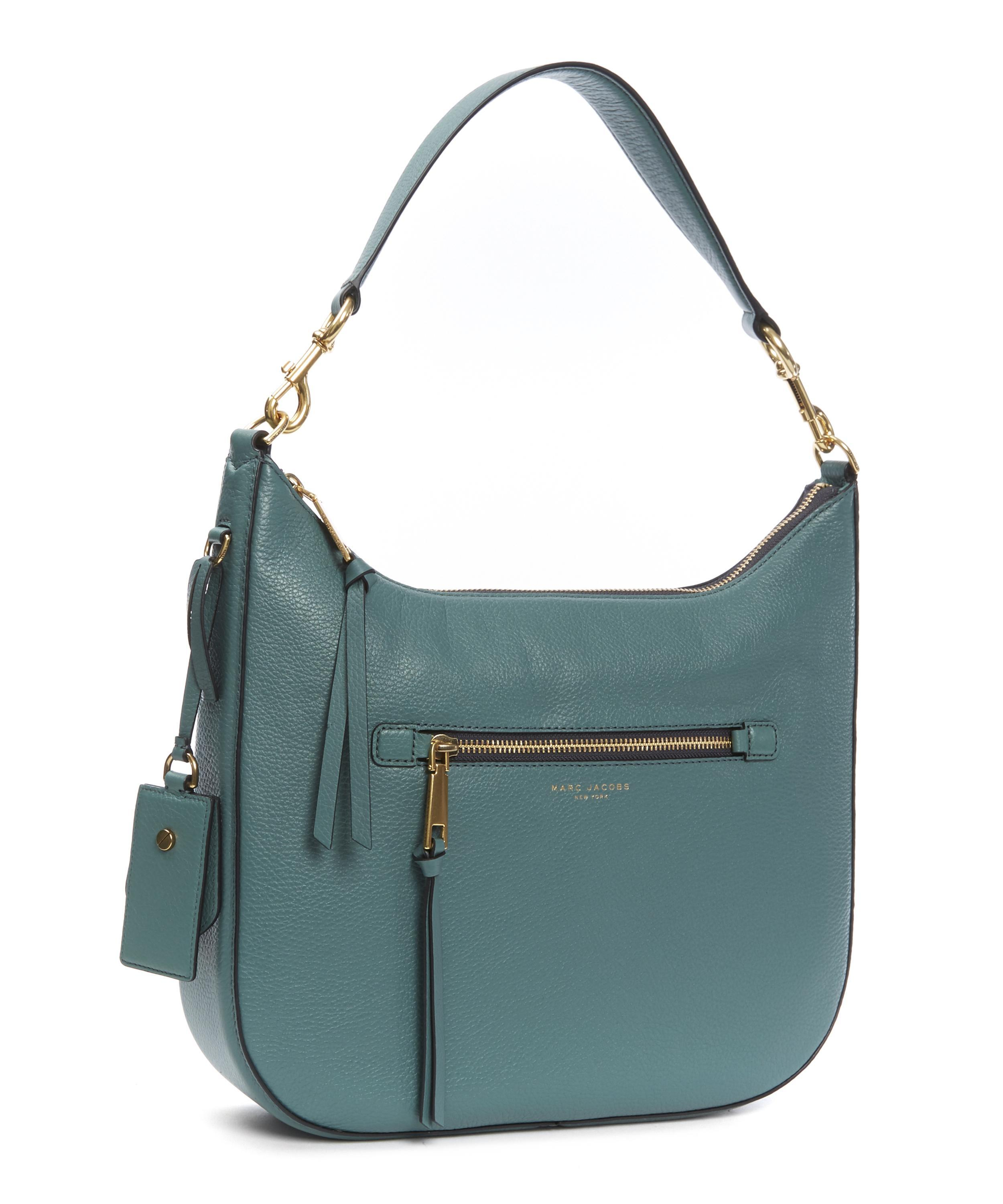 a113c9186 Marc Jacobs Recruit Leather Hobo Shoulder Bag in Blue - Lyst
