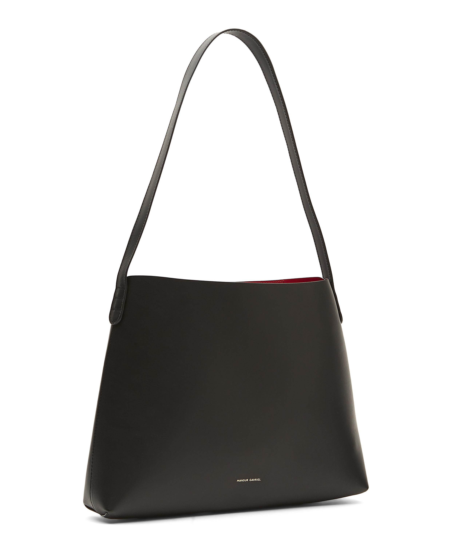 f967f8f76c9e Lyst - Mansur Gavriel Vegetable-tanned Leather Shoulder Bag in Black