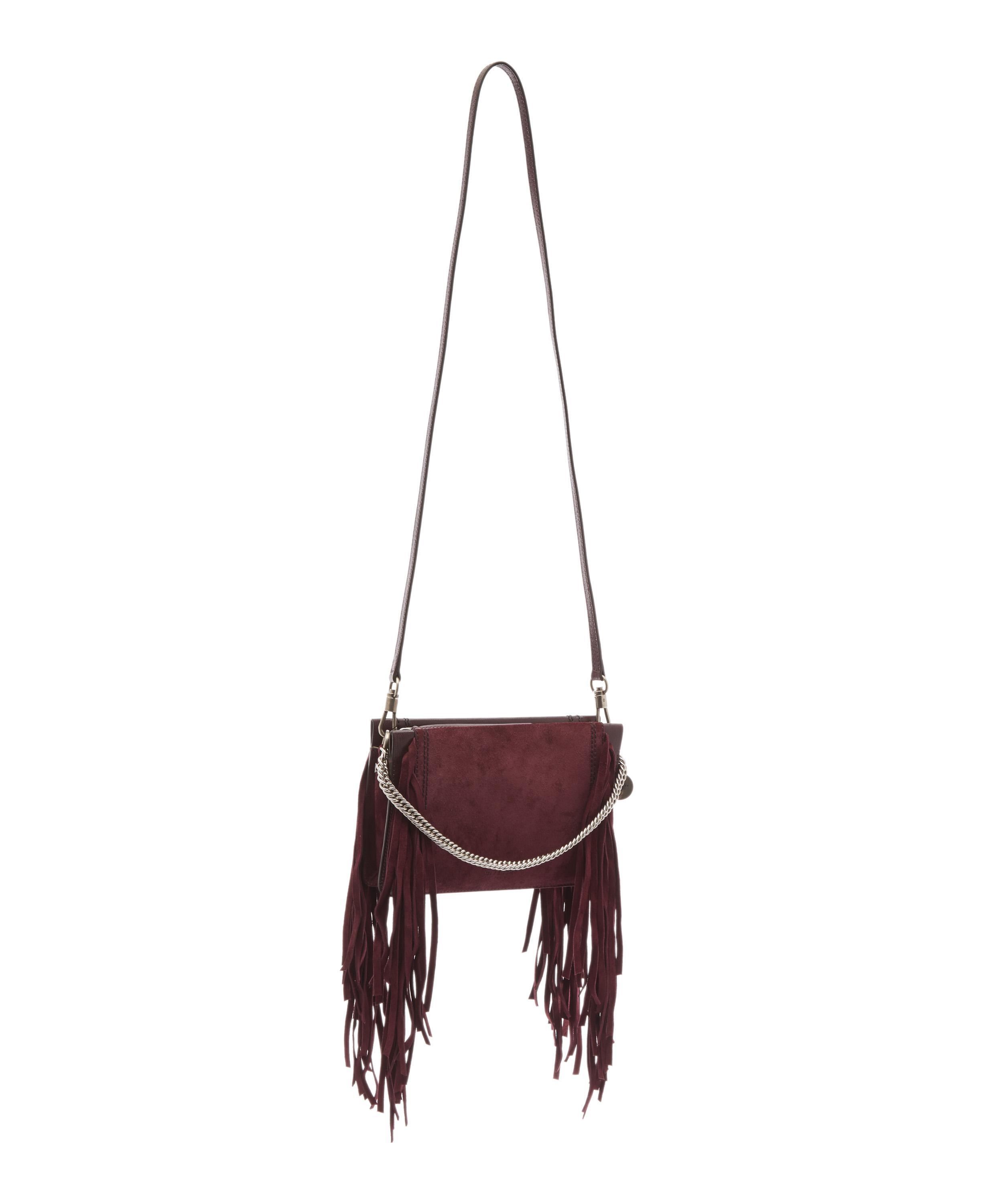 231f0f69eb Lyst - Givenchy Cross3 Leather And Suede Fringed Cross-body Bag