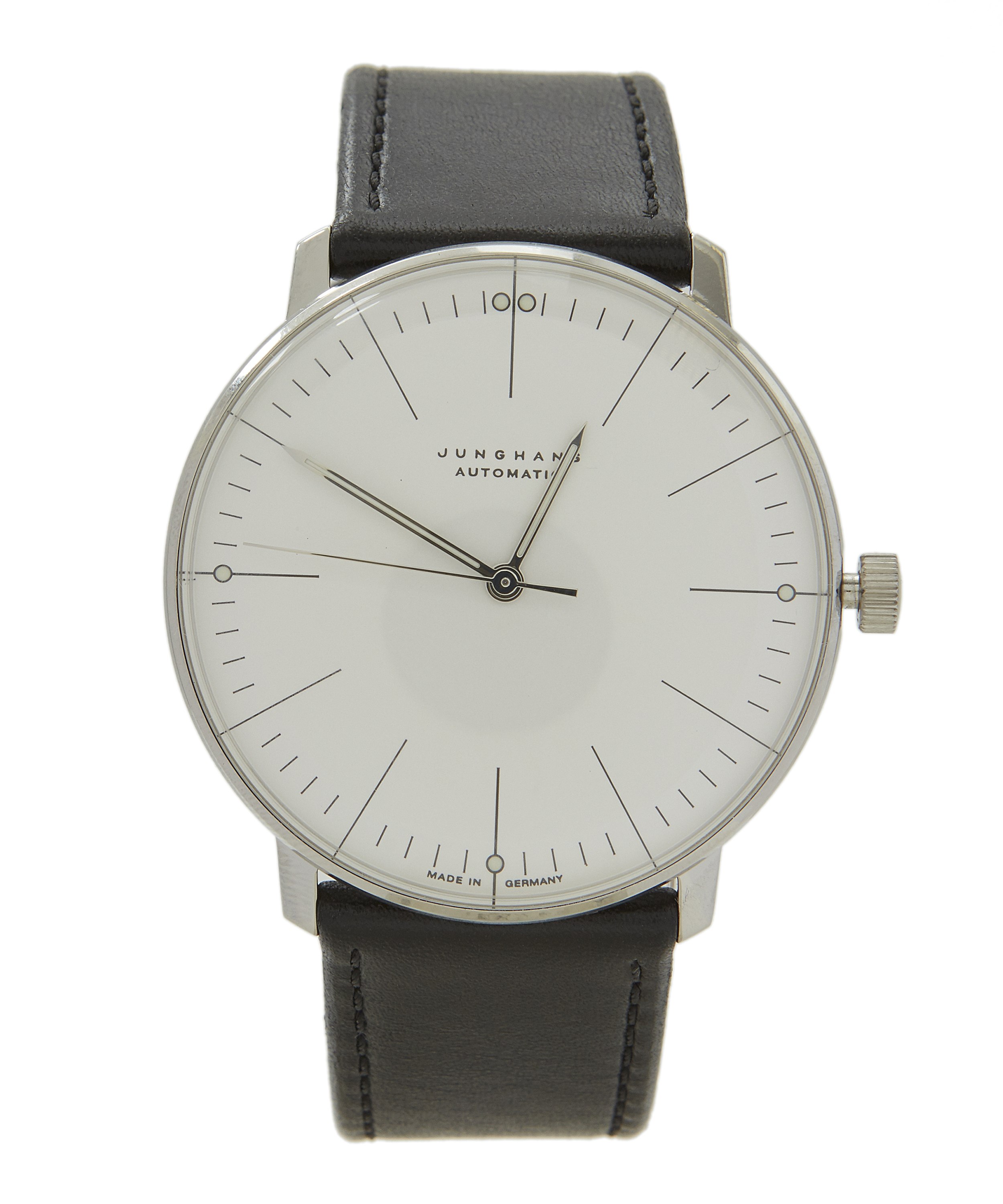 junghans 027 max bill automatic watch in white for. Black Bedroom Furniture Sets. Home Design Ideas