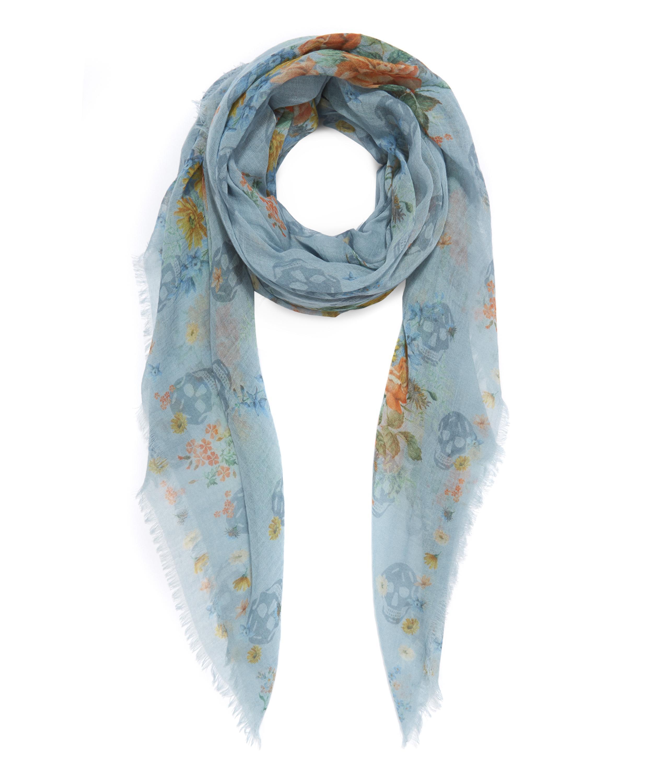 Lyst - Alexander Mcqueen Island Bouquet Wool Cashmere ...