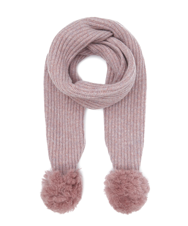 Lyst - Acne Sia Ribbed Pom Pom Scarf in Pink