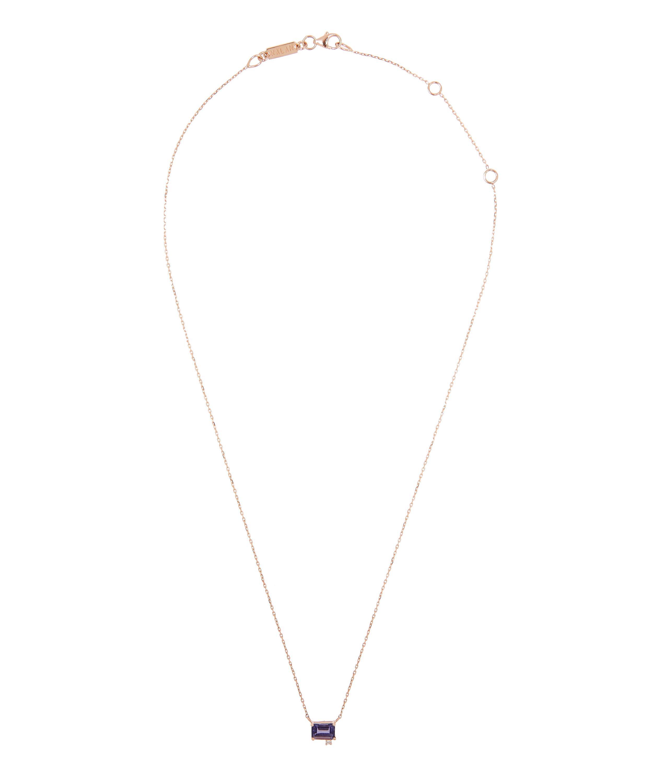 9f919f0dc1 Lyst - Suzanne Kalan Rose Gold Iolite Diamond Necklace in Metallic