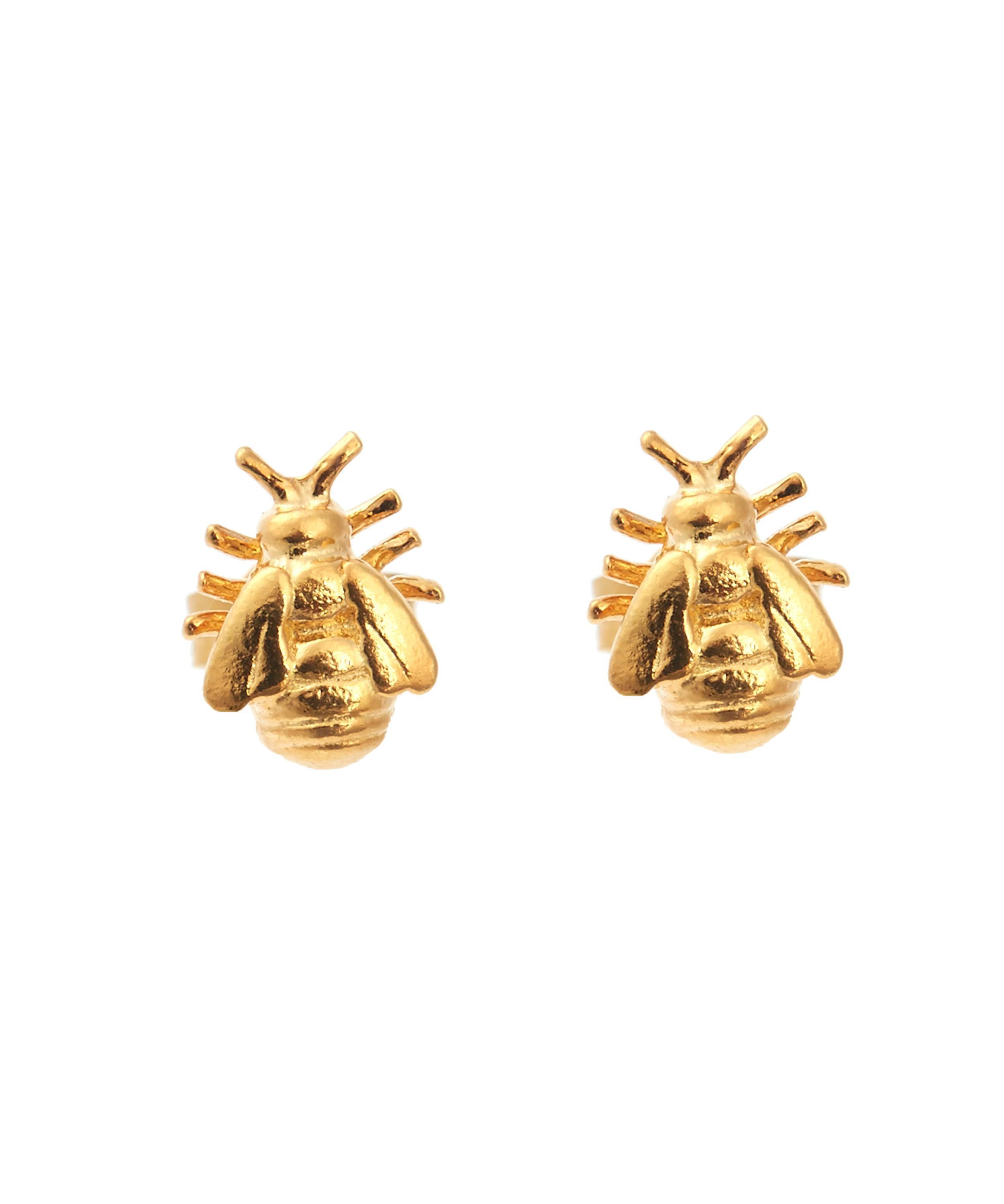 lab skinner hexagon bee bill styling personal earring stud shop mutrend earing