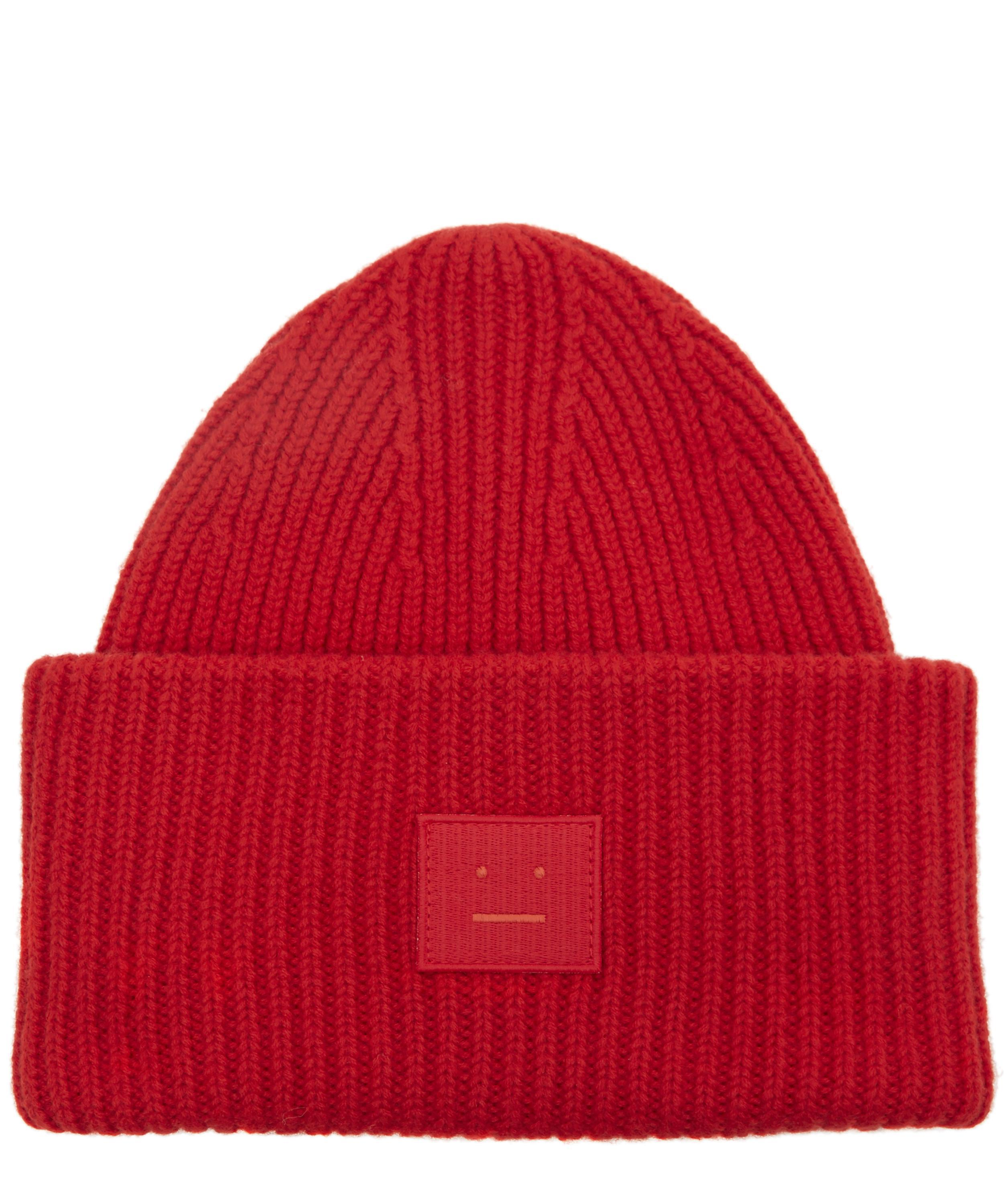 Pansy Face Beanie in Red Acne Studios QbR47JjQK
