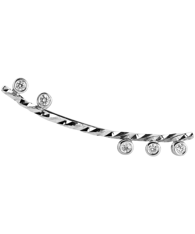 Maria Black diamond cut Colette earring (right) - Metallic wNd498