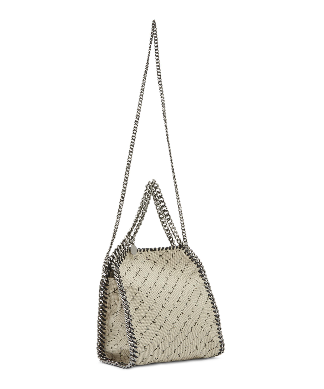 30513211797e Stella McCartney Mini Falabella Monogram Canvas Tote Bag in Natural - Lyst