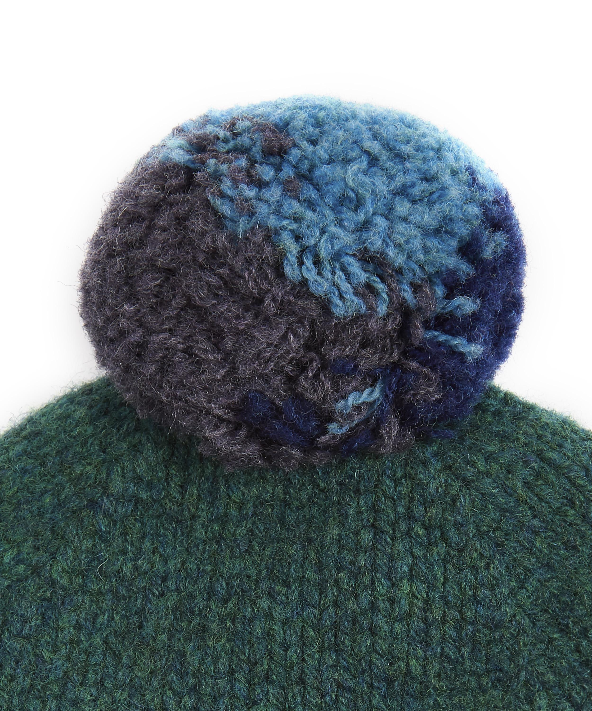 52378c7cffc Lyst - Paul Smith Contrast Pom-pom Beanie in Green for Men