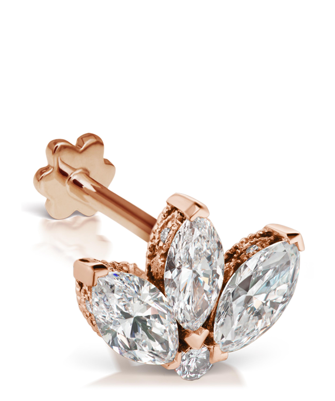 281dbacb7 Maria Tash - Metallic 3mm Mini Diamond Engraved Lotus Threaded Stud Earring  - Lyst. View fullscreen