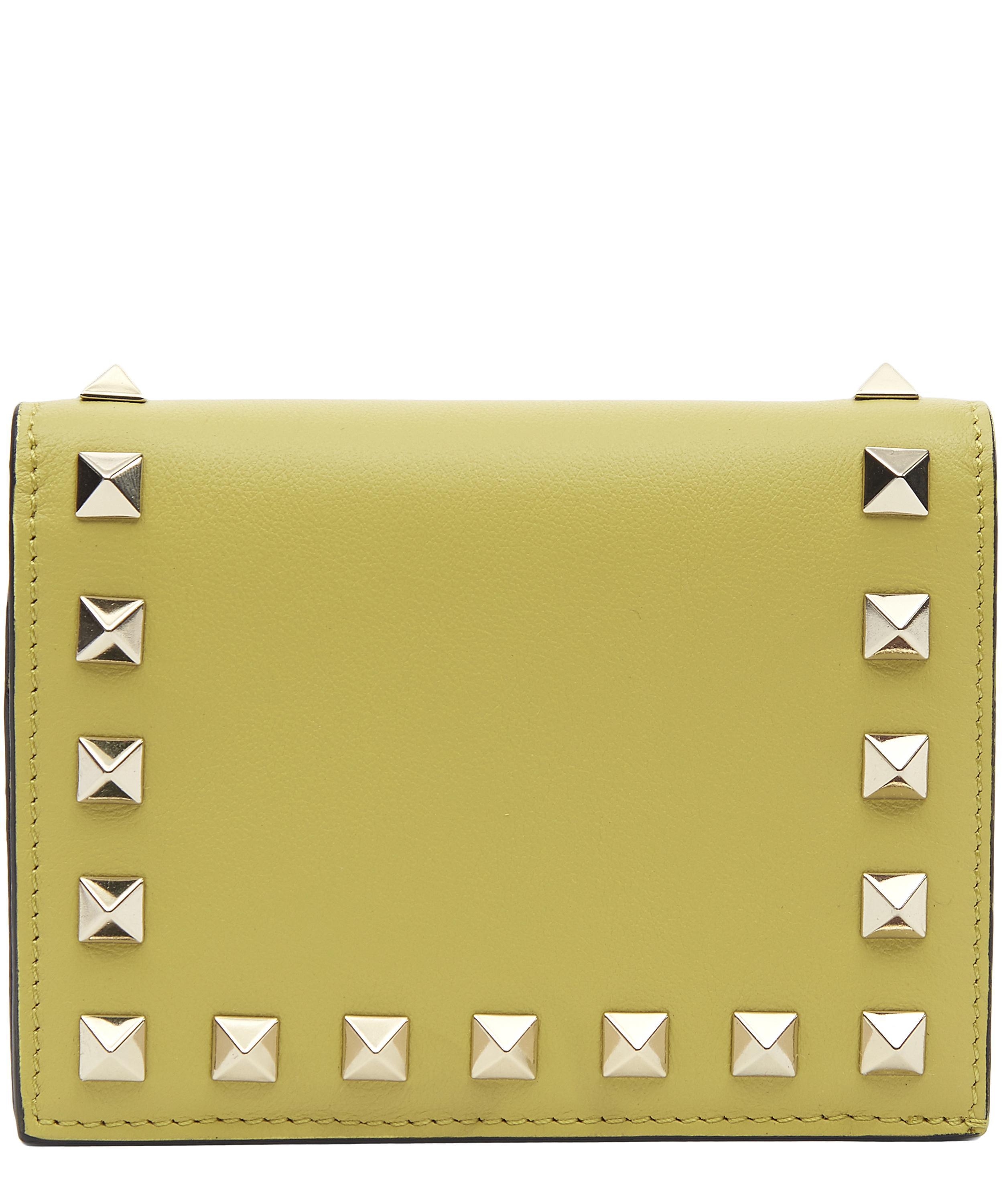 Rockstud French-flap wallet - Green Valentino