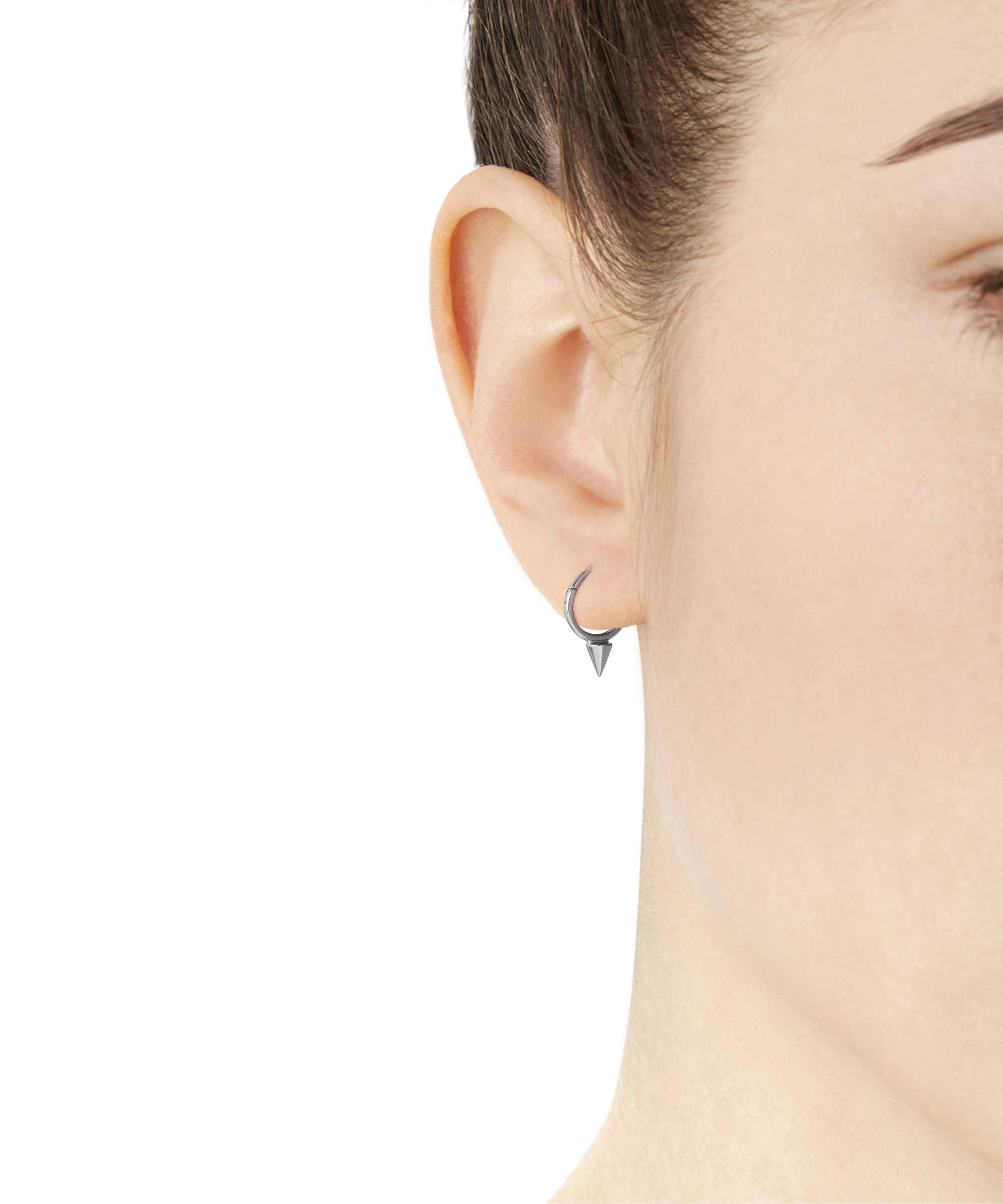 normal single in gold lyst earring white plated earrings metallic jewelry product gallery loewe