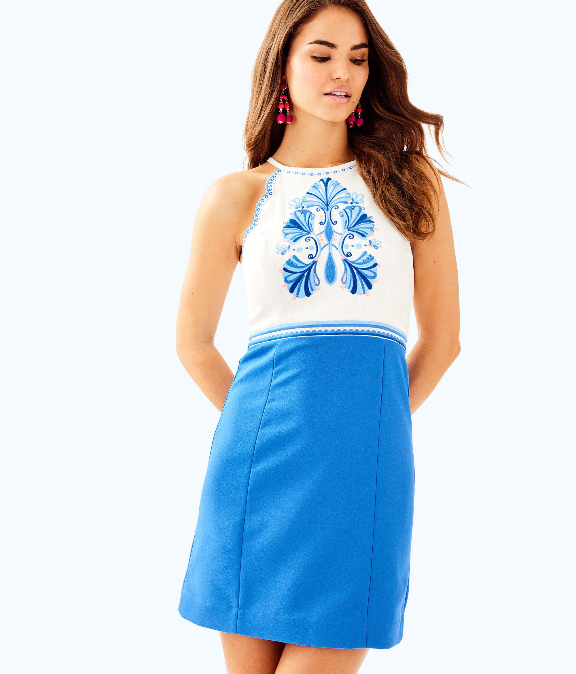 76a004c0005b04 Lilly Pulitzer Adalie Stretch Shift Dress in Blue - Lyst