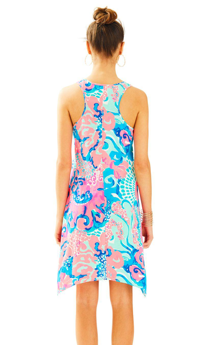 27b7b9a2ed76d5 Lilly Pulitzer Melle Trapeze Tank Dress in Blue - Lyst