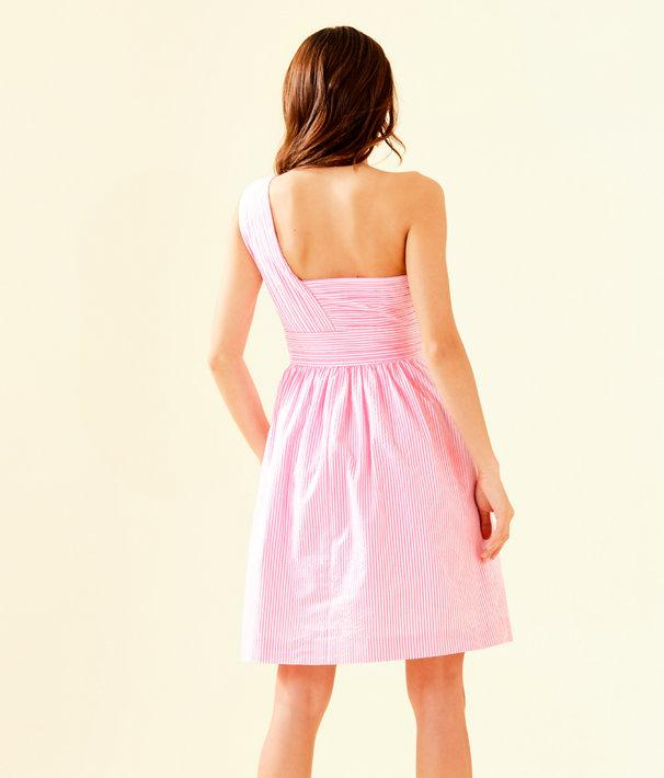 e3669bf7a4 Lyst - Lilly Pulitzer Addison One-shoulder Dress in Pink