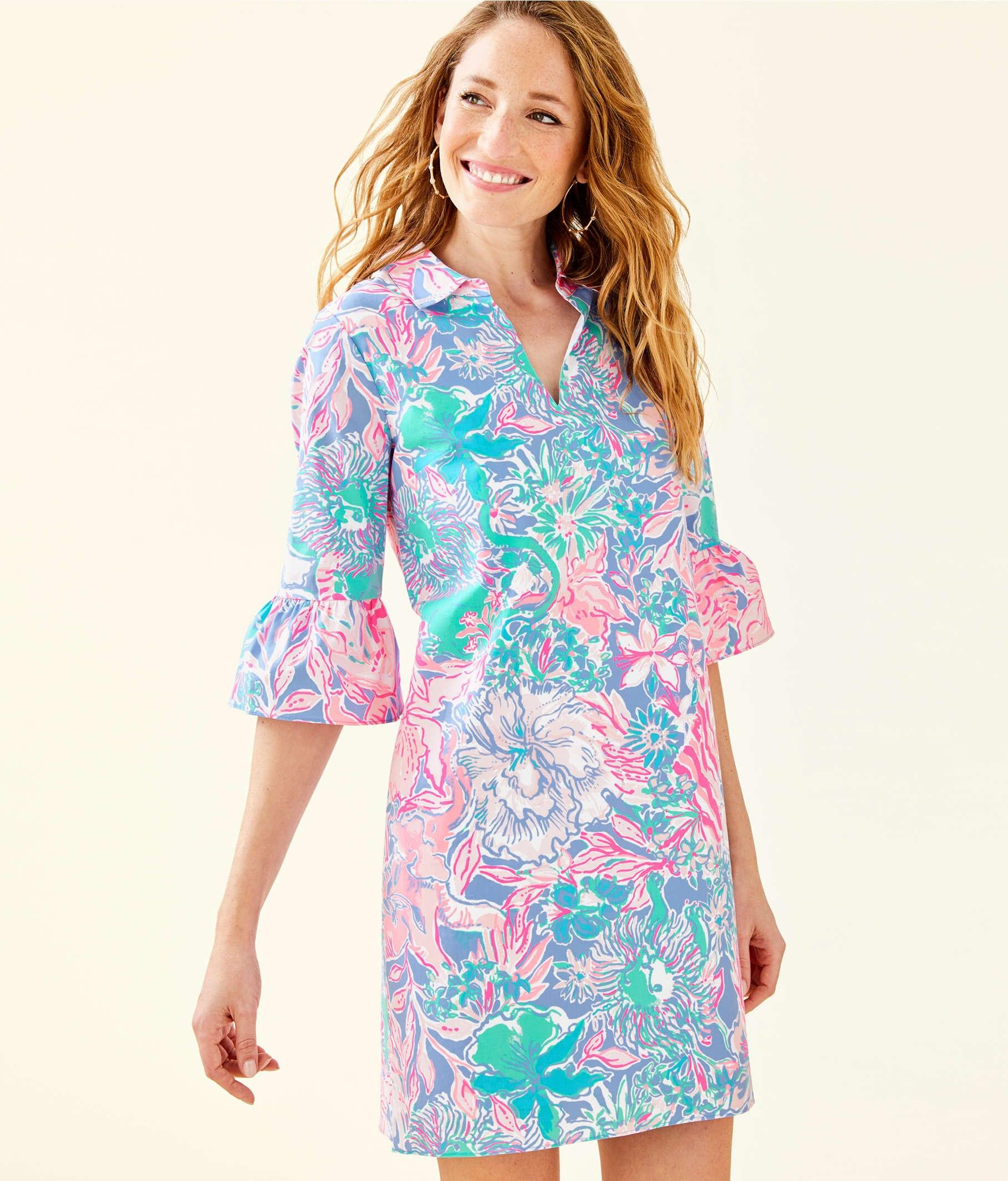 eb7441861628f7 Lilly Pulitzer Ginger Stretch Dress in Blue - Lyst