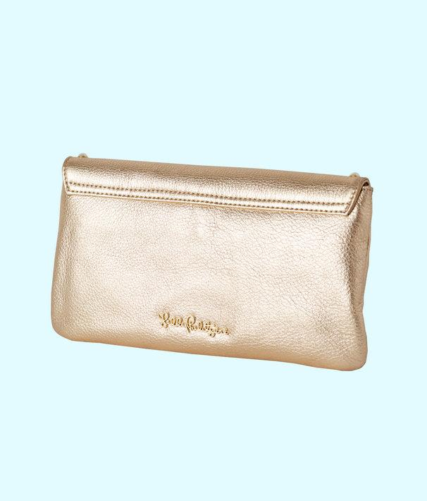 c11051cc1 Lyst - Lilly Pulitzer Costa Brava Leather Clutch in Metallic