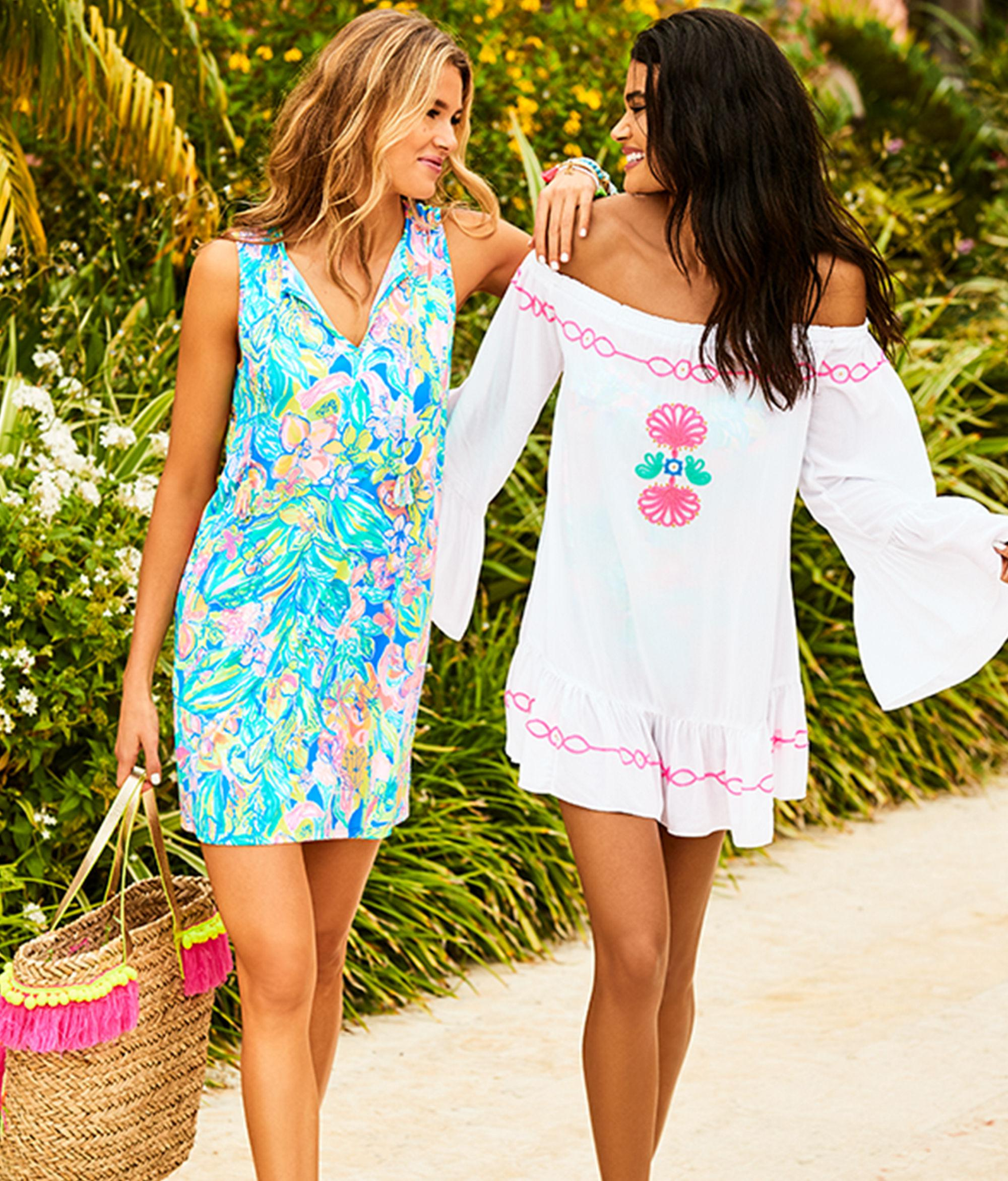 4c3e0ce5b2ad7 Lilly Pulitzer Johana Cover Up in Blue - Lyst