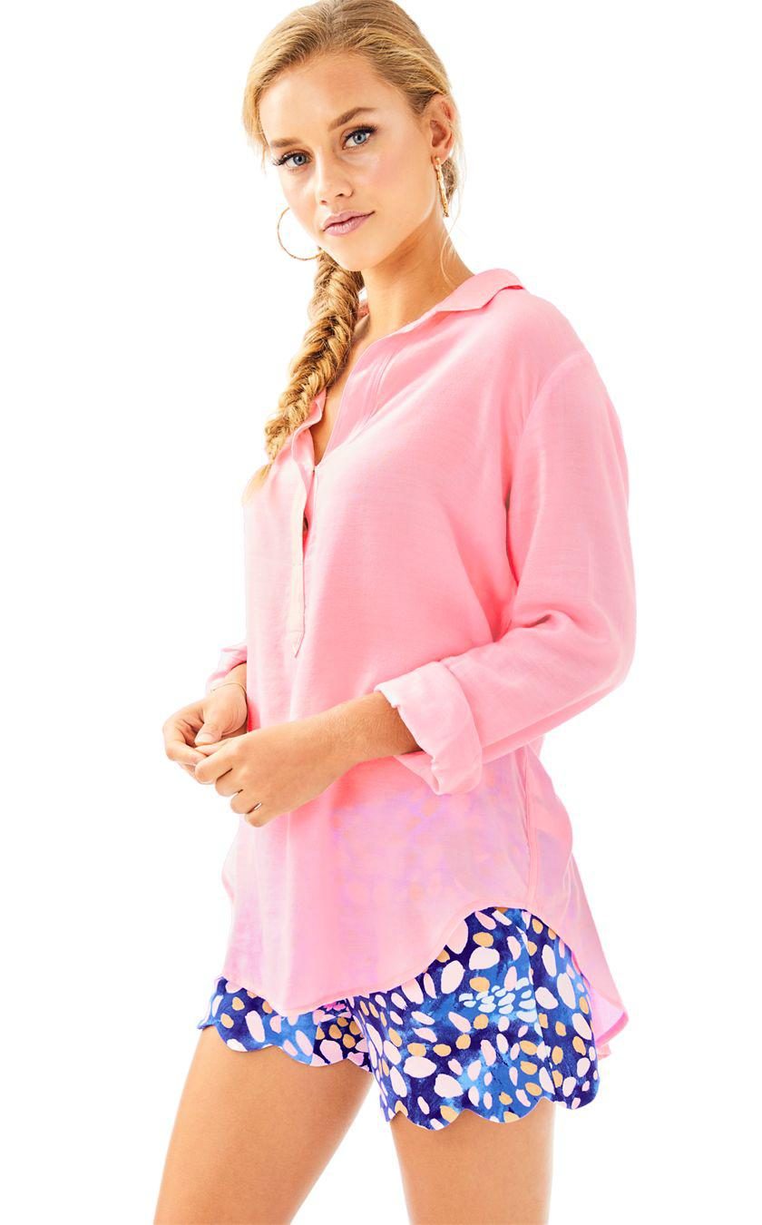 38a308aec5a Lyst - Lilly Pulitzer Gianna Popover in Pink
