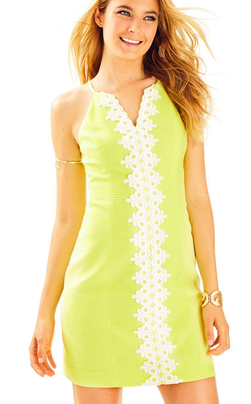 68355602c439a Lilly Pulitzer Pearl Shift Dress in Yellow - Lyst