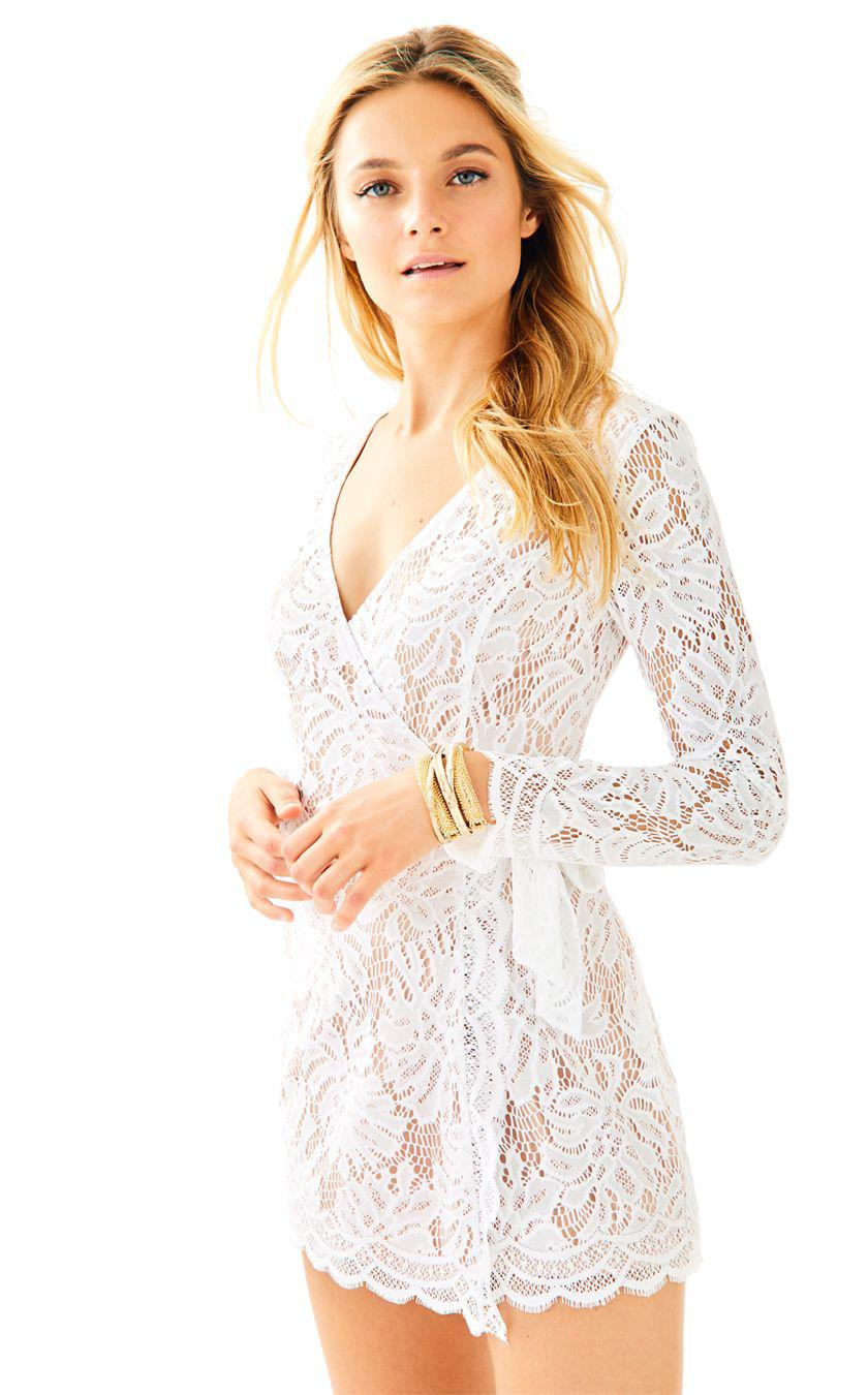 Lyst Lilly Pulitzer Tiki Wrap Romper In White