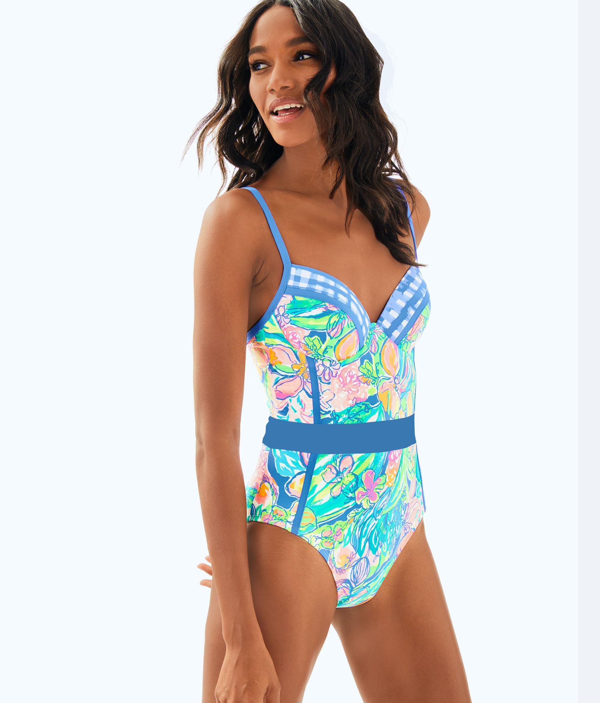 6c41813dcd80b Lyst lilly pulitzer palma one piece swimsuit in blue jpg 2000x2342 Lilly  pulitzer halter swimsuits