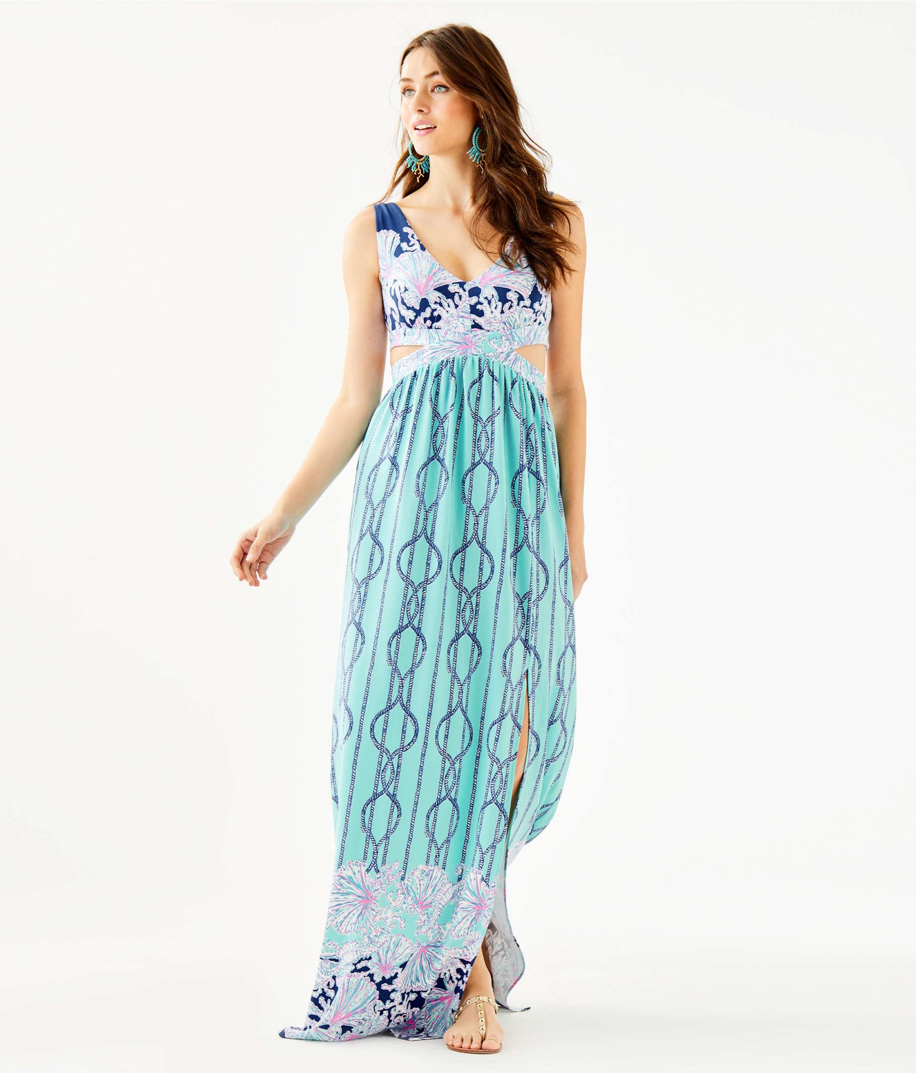 d59563269b80b6 Lilly Pulitzer - Blue Marcia Maxi Dress - Lyst. View fullscreen
