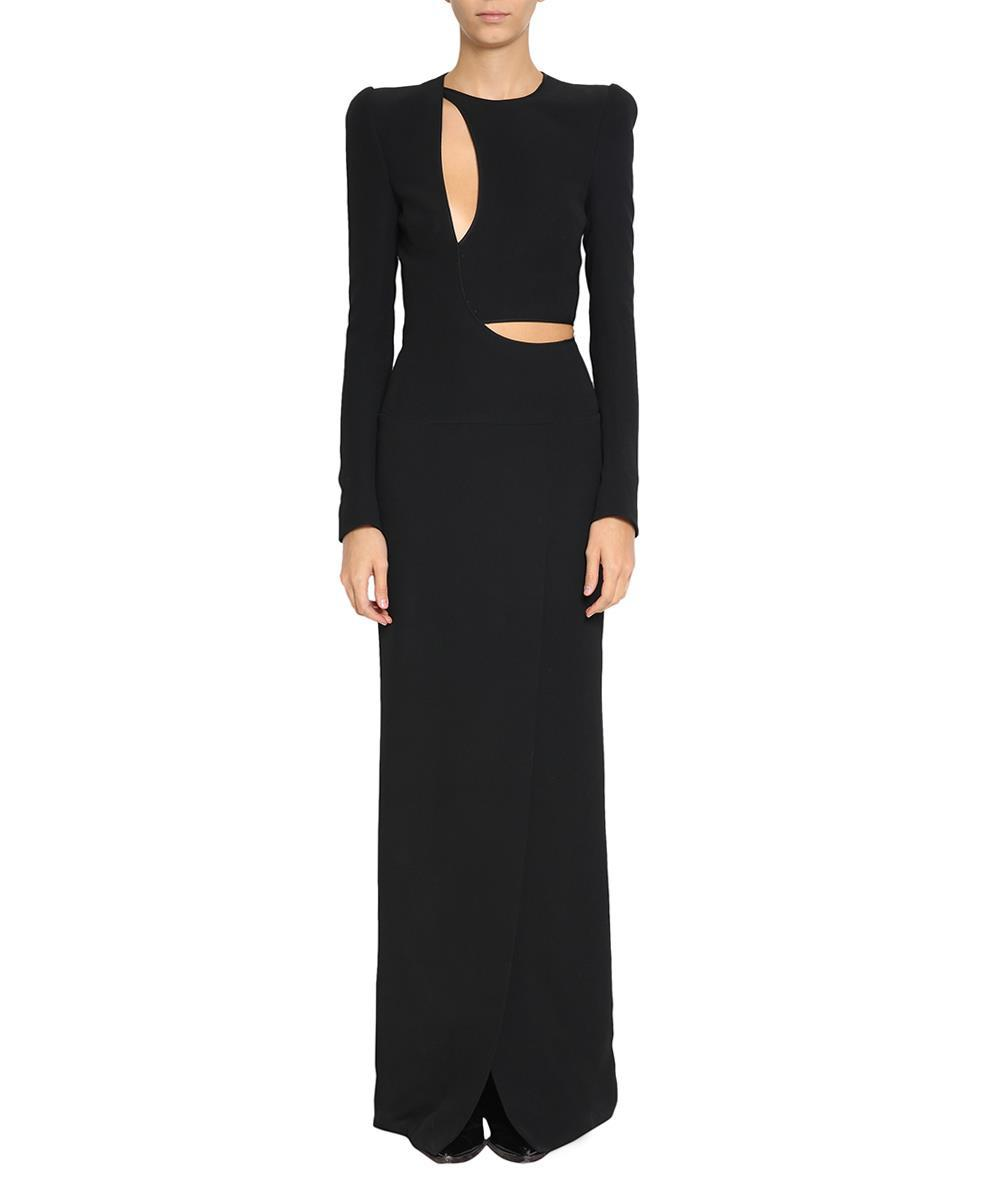 silk maxi cut out dress - Black Haider Ackermann New Arrival Sale Online Best Prices Online Discount How Much 7shl6KXW