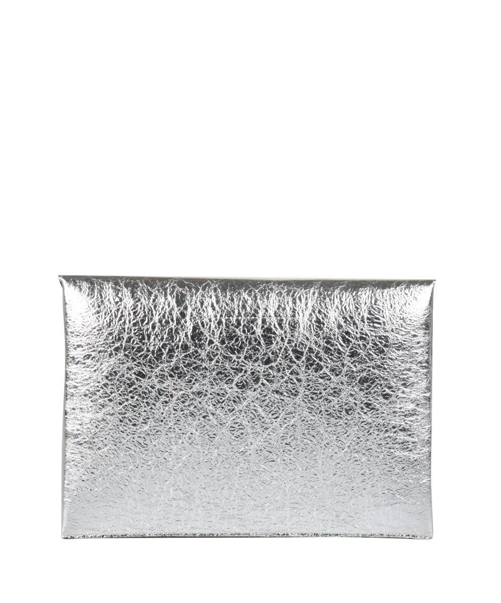 Mm6 By Maison Martin Margiela Borsa Effetto Crackle in Metallic - Lyst f18a3b4cb6e