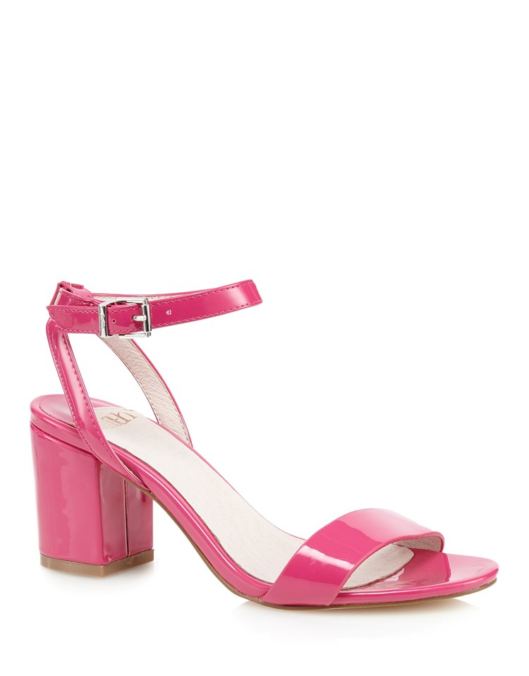 faith chunky heeled sandals in pink lyst