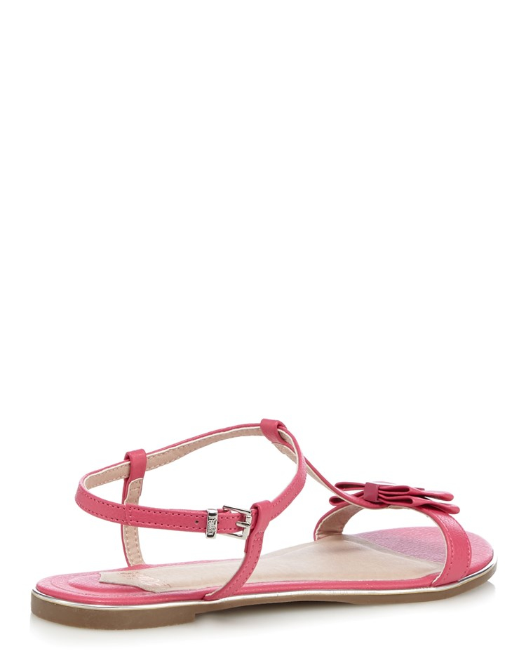 faith bow front sandals in pink lyst