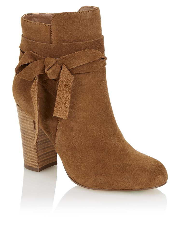Faith Wrap Around Ankle Boots In Brown Lyst