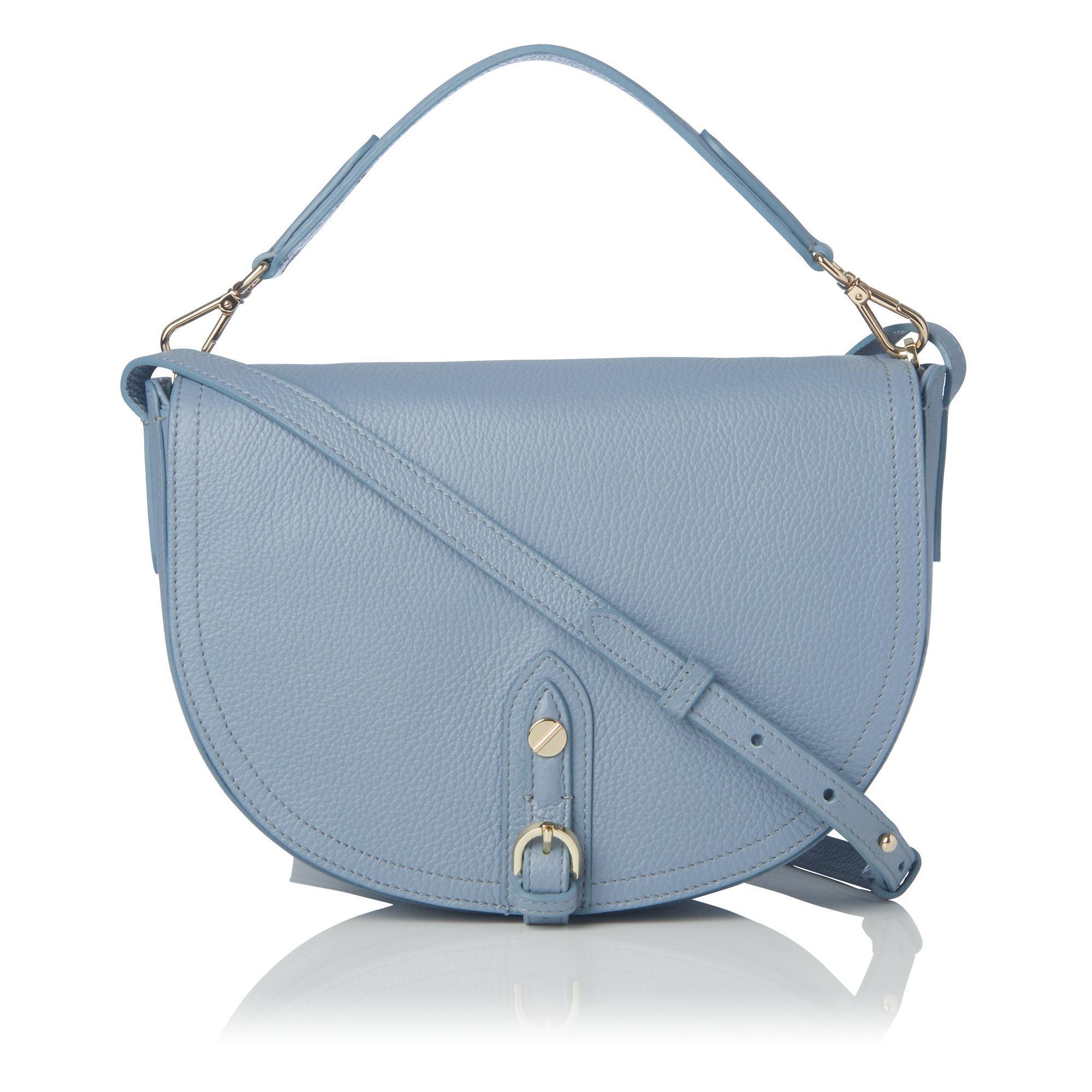 a1248783be29 Lyst - L.K.Bennett Andrea Blue Leather Shoulder Bag in Blue