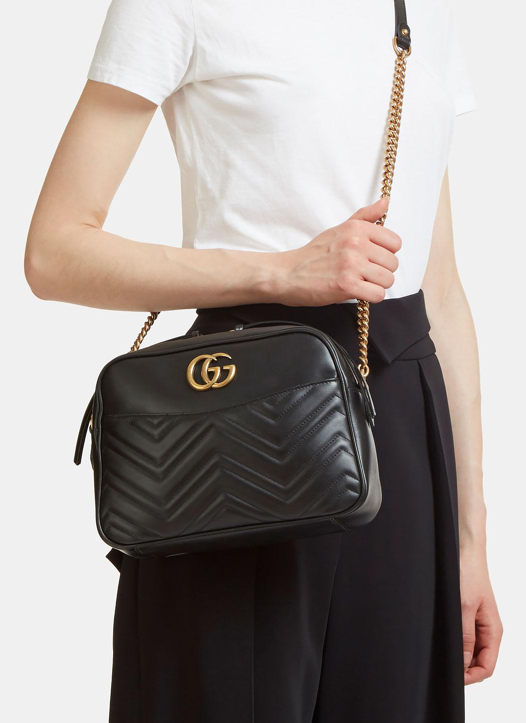 Lyst Gucci Gg Marmont Matelass 233 Small Shoulder Bag In