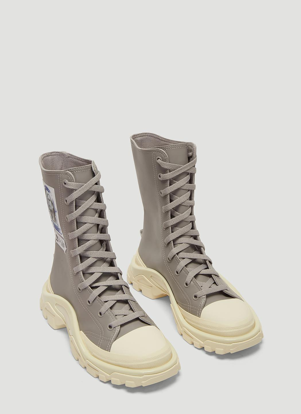 pretty nice d37cf aea38 Adidas By Raf Simons - Gray Detroit Boot Sneakers In Grey - Lyst. View  fullscreen