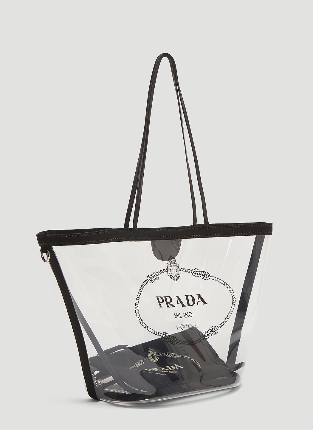 e24dd5eb57d1 Prada - Multicolor Transparent Tote Bag In Clear - Lyst. View fullscreen