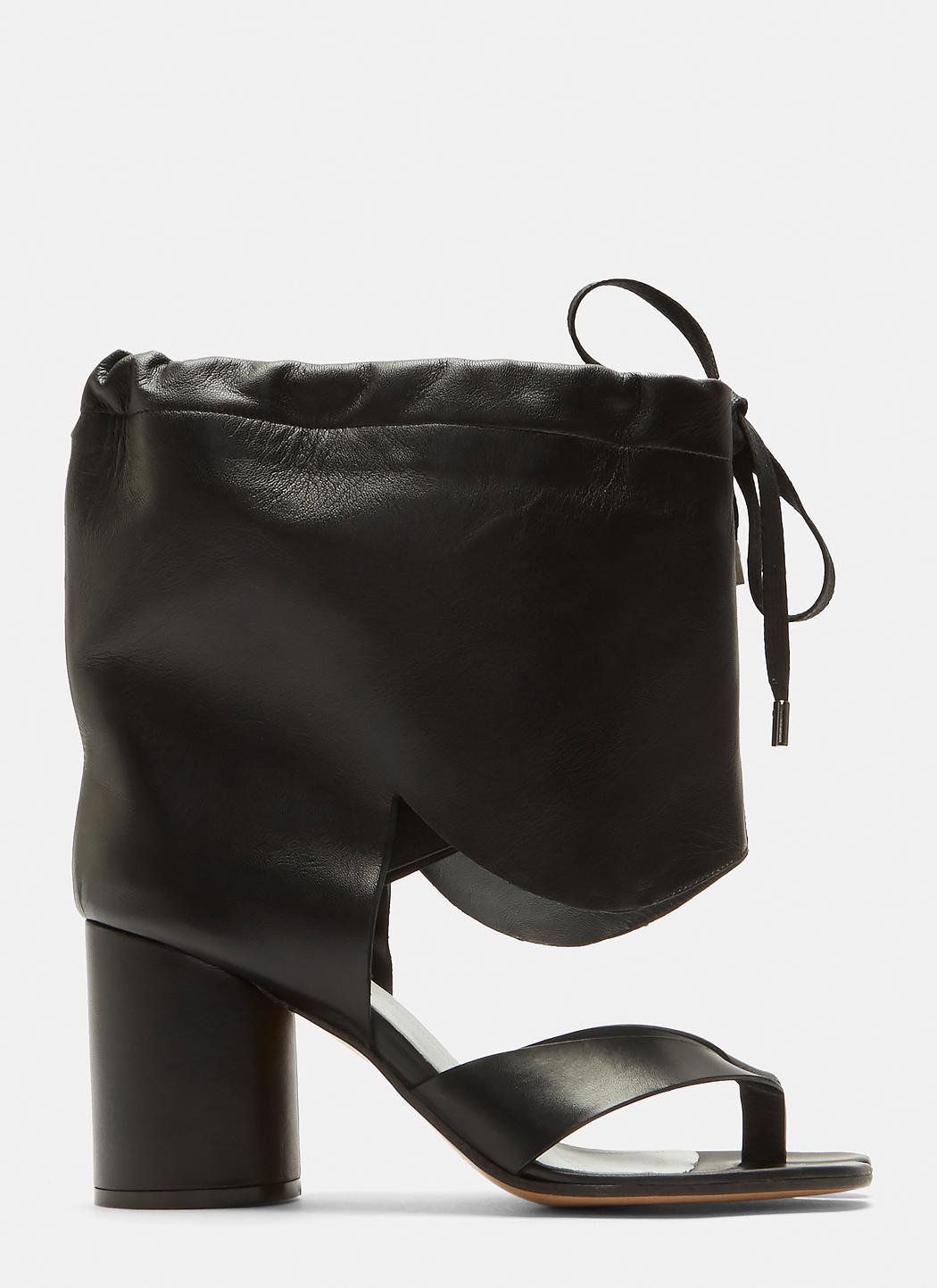 Maison Margiela Drawstring Cut-Out Tabi Boots susDRA9