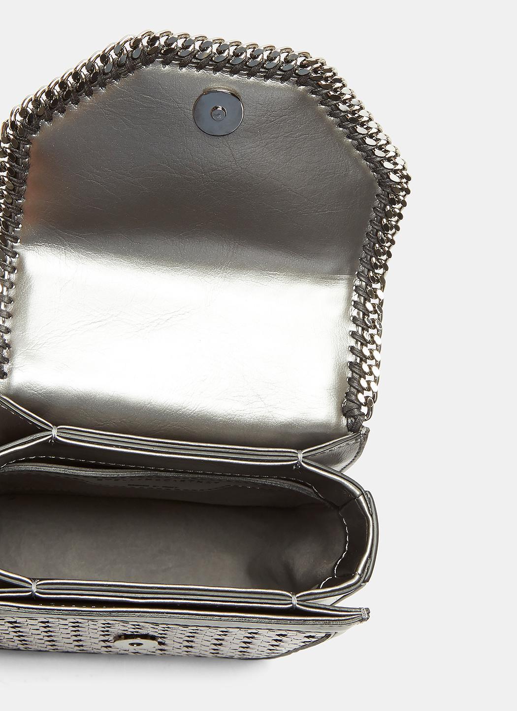 18cef34611e3 Lyst - Stella McCartney Metallic Wicker Falabella Box Mini Shoulder ...