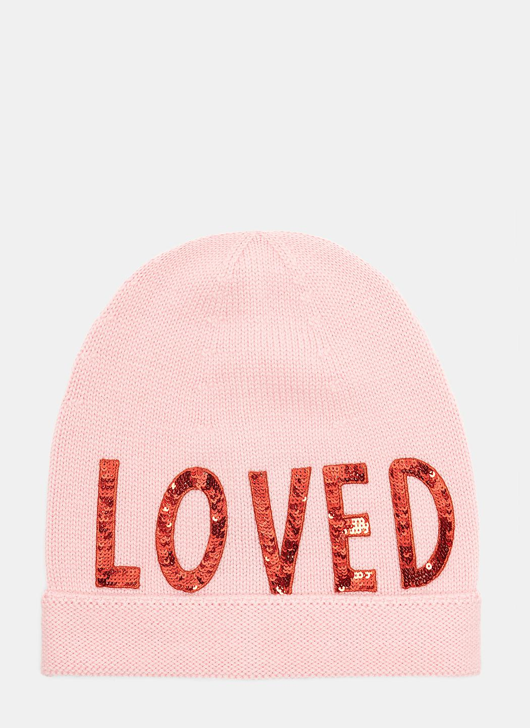 e6b9c8f7dd23c Gucci Sequin Embroidered Loved Knit Hat In Pink in Pink - Lyst
