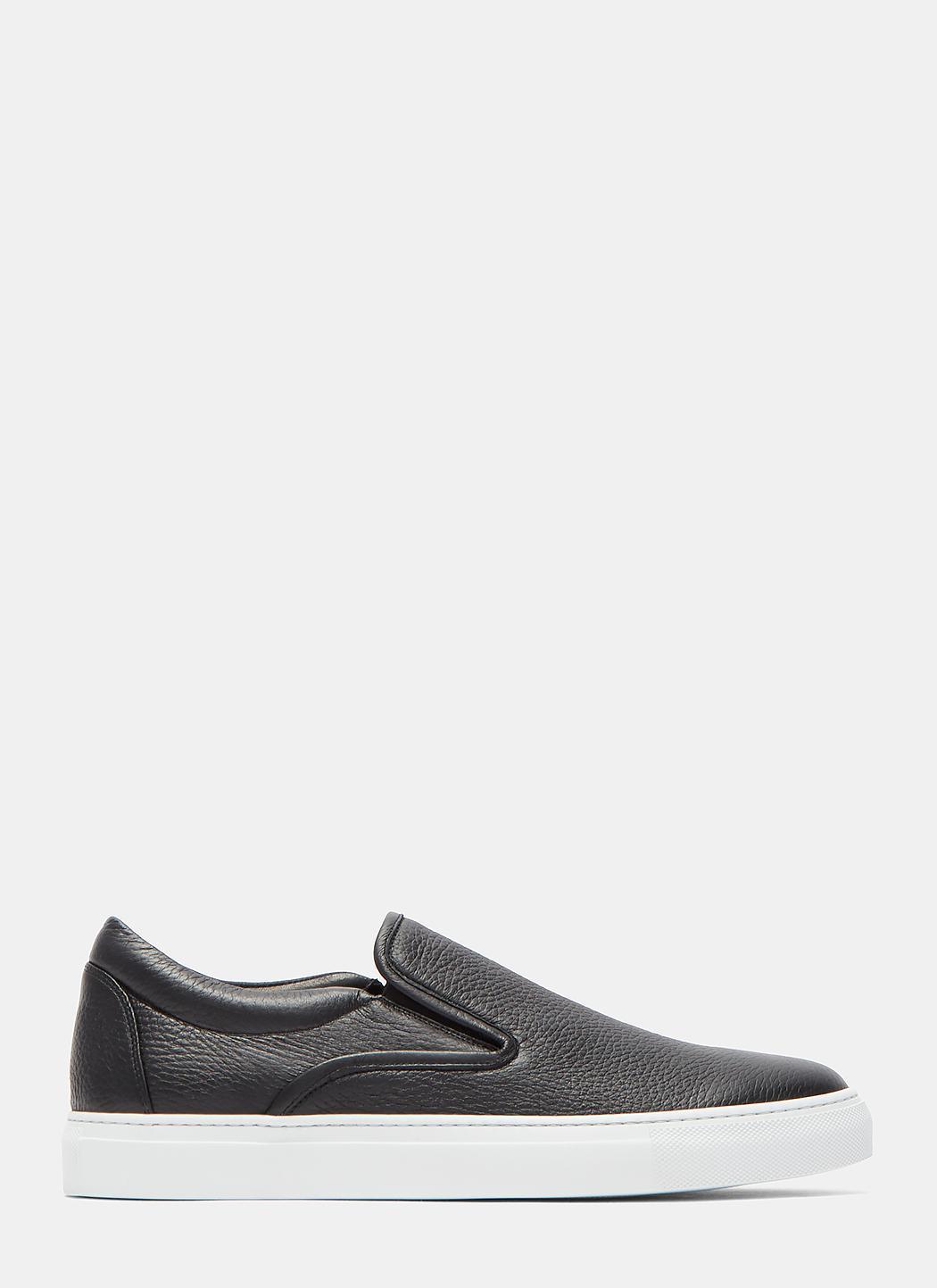 AIEZEN Slip-On Grained Leather Sneakers