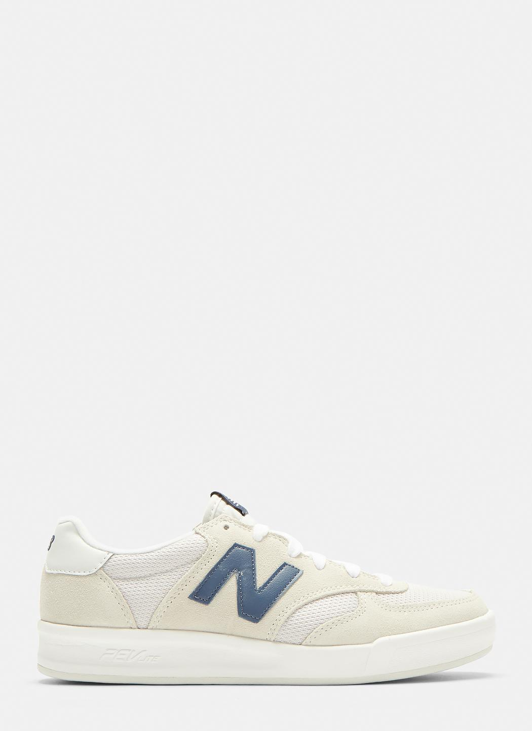 87115ba1ca6ac New Balance 300 Suede And Nylon Court Sneakers In White in White - Lyst