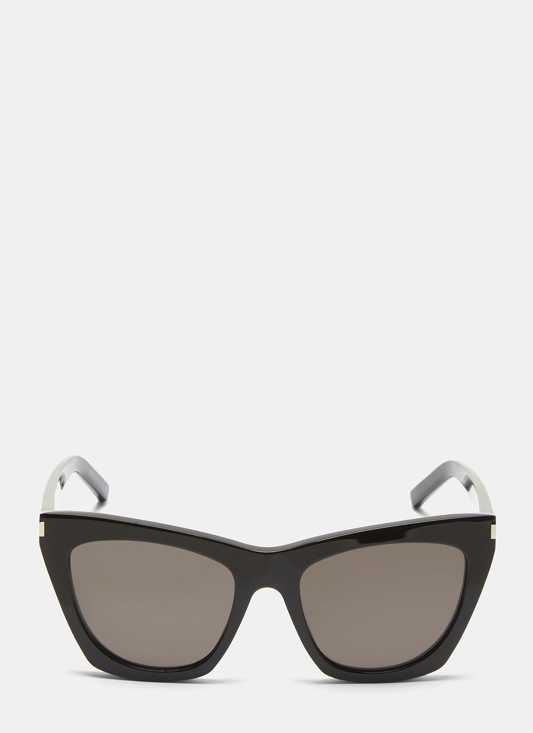 3fd52df30a Saint Laurent New Wave 214 Kate Sunglasses In Black in Black - Lyst