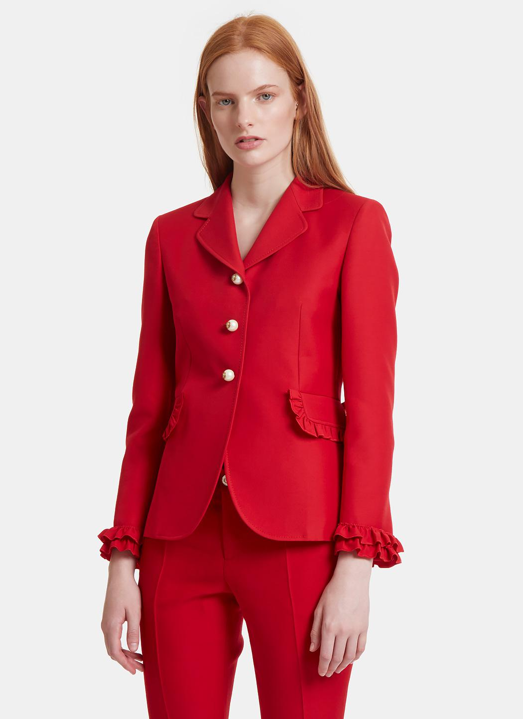 Red blazer jacket for women