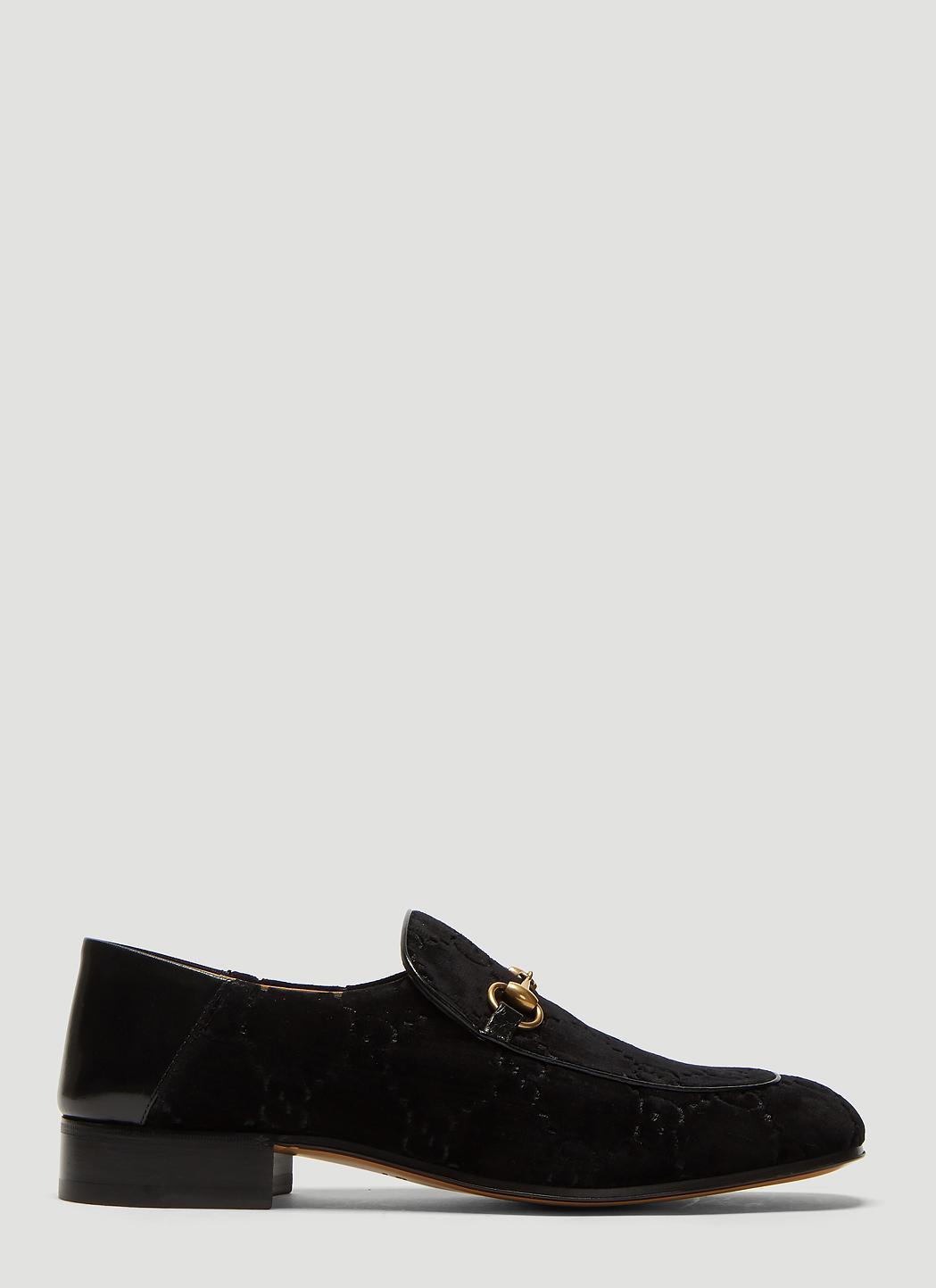 ec92320cd Lyst - Gucci GG Velvet Fold Loafer In Black in Black for Men