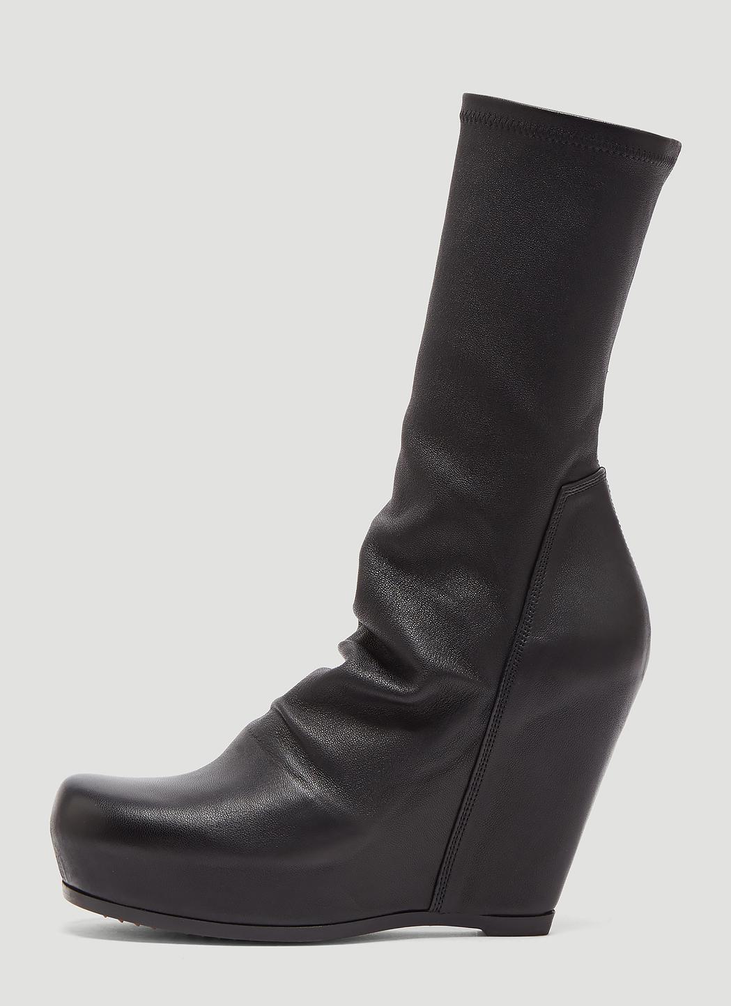 d41bebd35900 Rick Owens - Sock Wedge Boots In Black - Lyst. View fullscreen