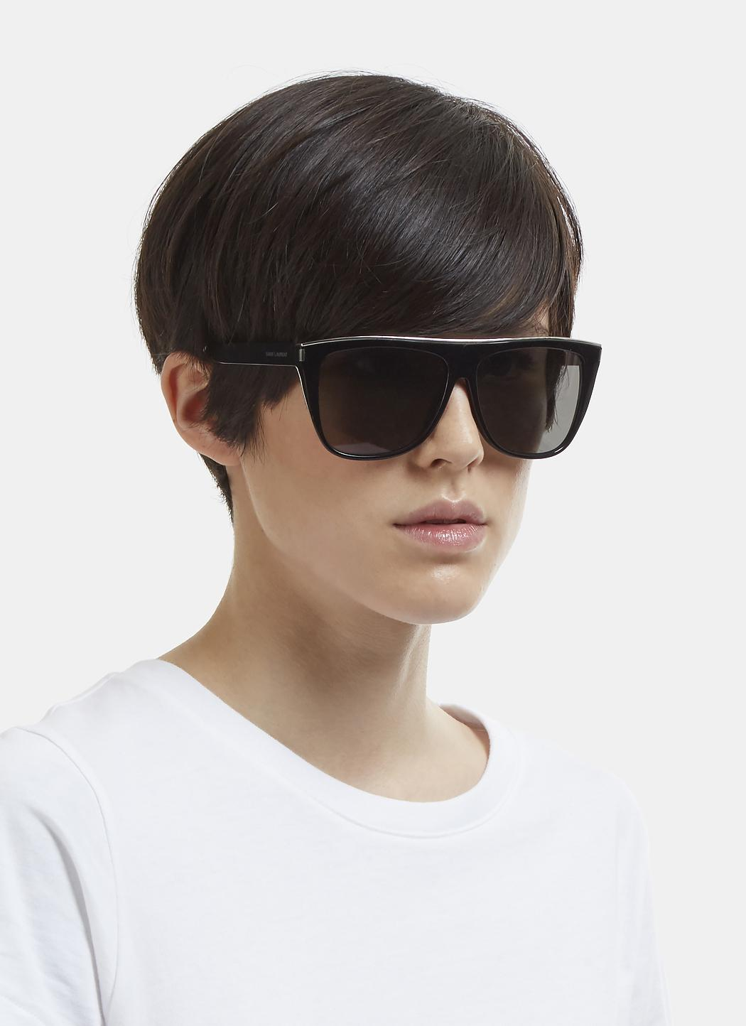 1a2c5caa771 Saint Laurent New Wave Sl 1 Sunglasses In Black in Black - Lyst