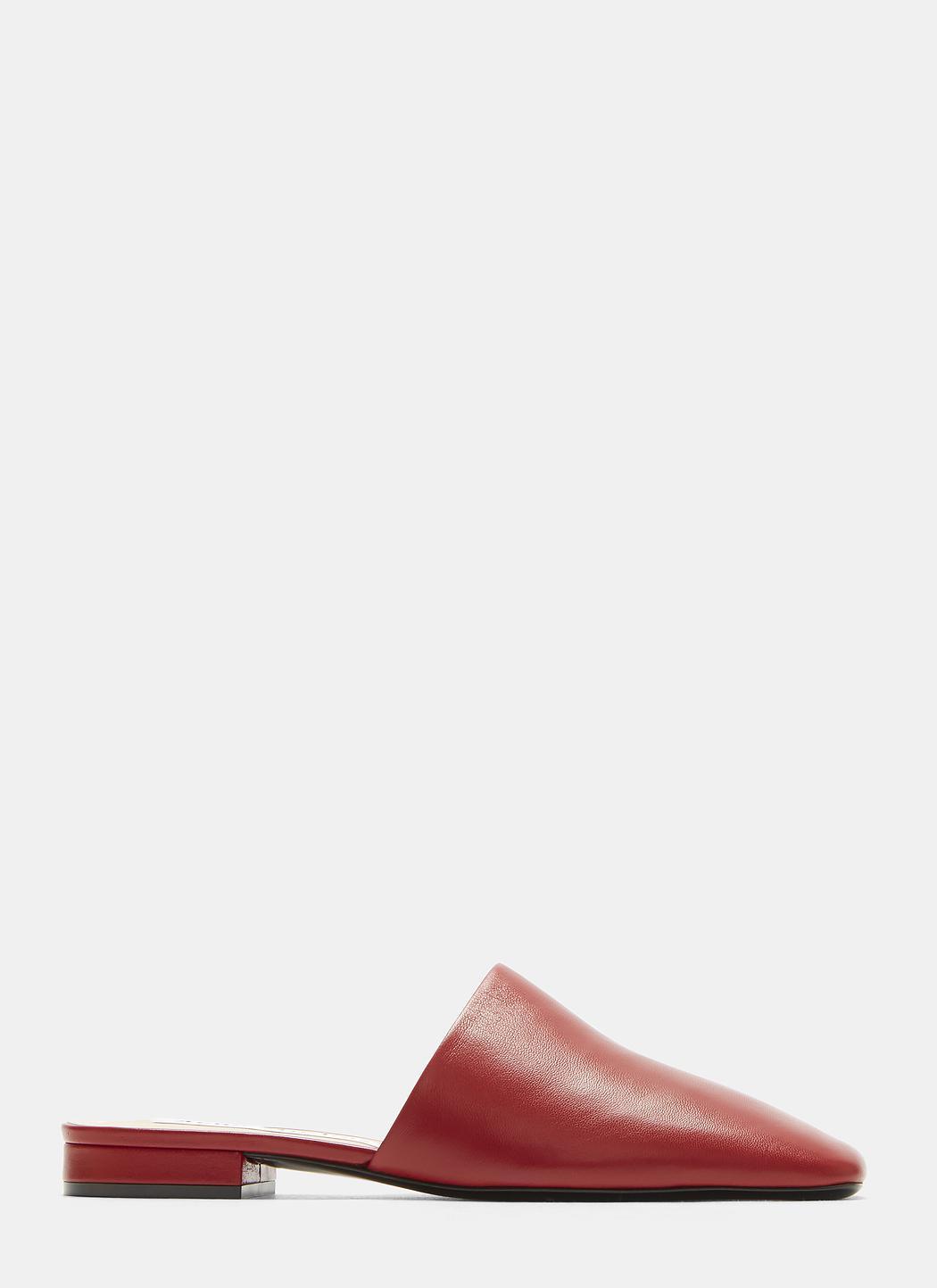 Acne Tessey Square Toe Slip-On Shoes HVSbcxAEv