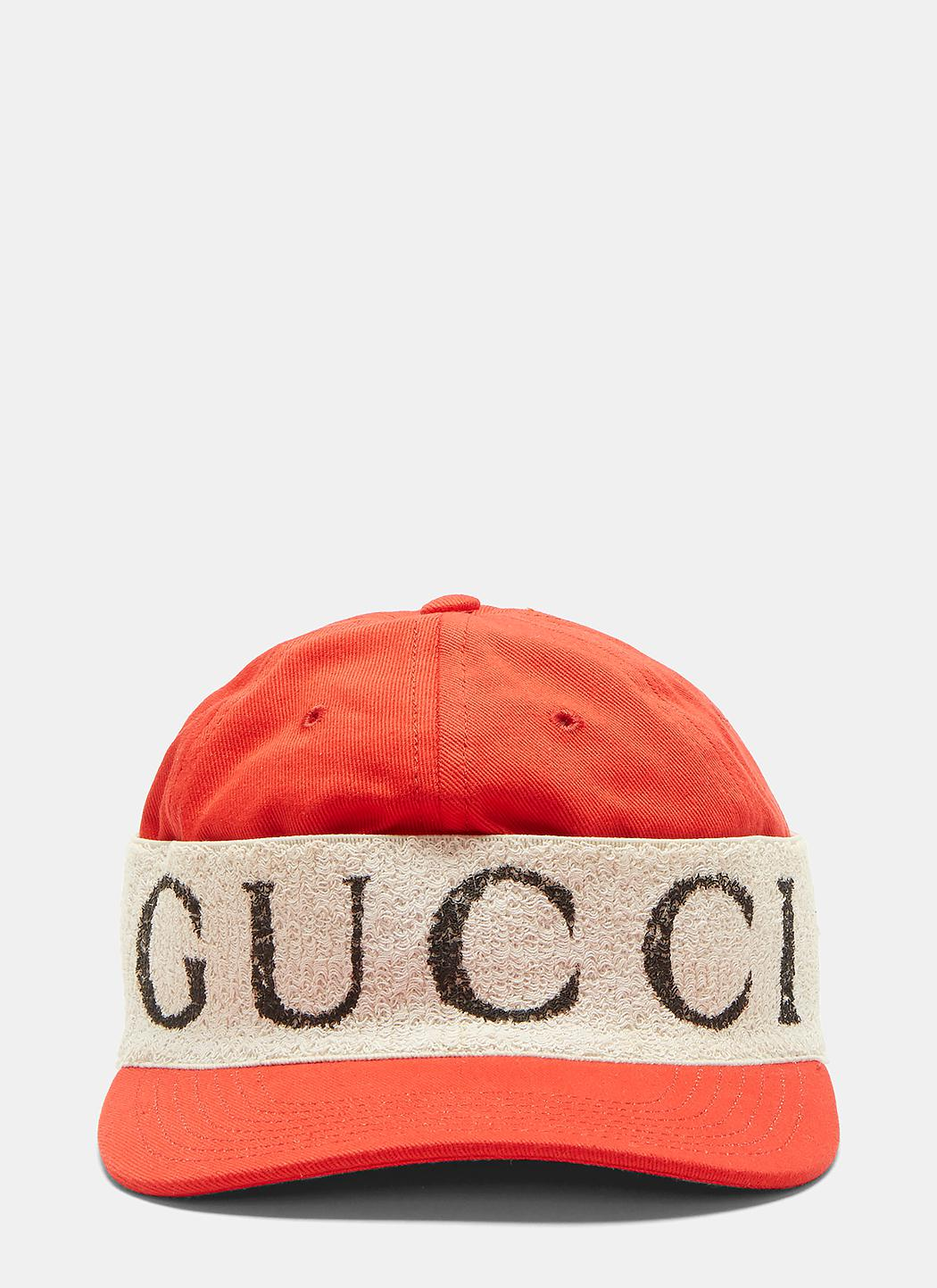 Lyst - Gucci Logo Band Baseball Cap In Red in Red for Men 5e6f5f174bd