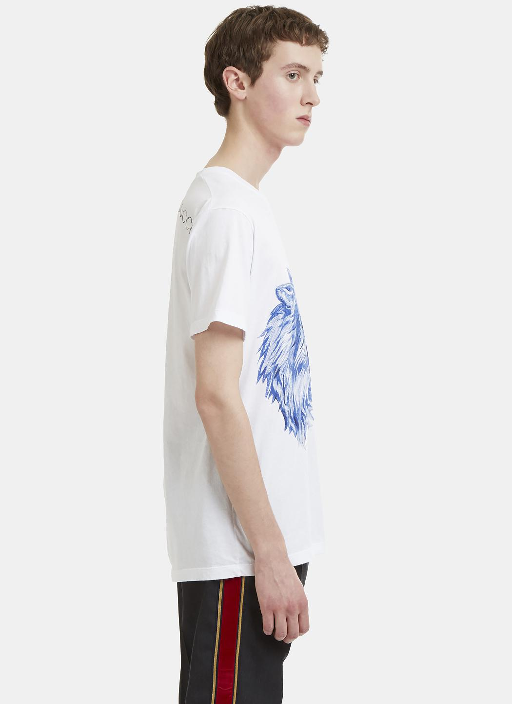f615f1f1aea Lyst - Gucci Doodle Wolf Print T-shirt In White in White for Men