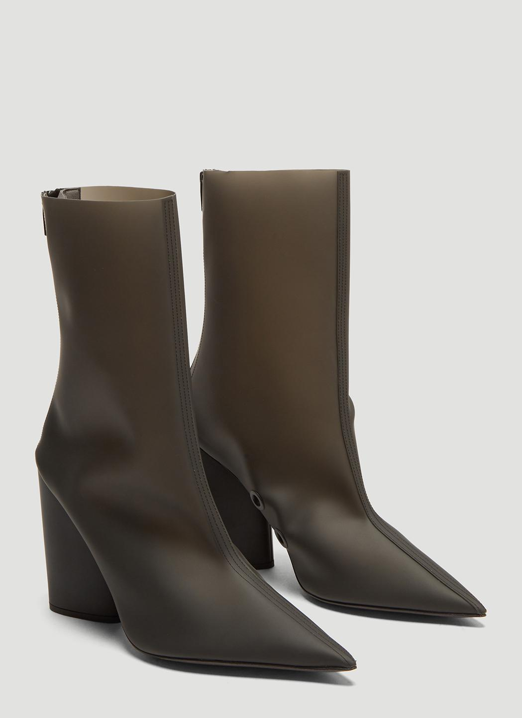 301fabfd24 Yeezy - Semi Opaque Pvc Ankle Boots In Black - Lyst. View fullscreen