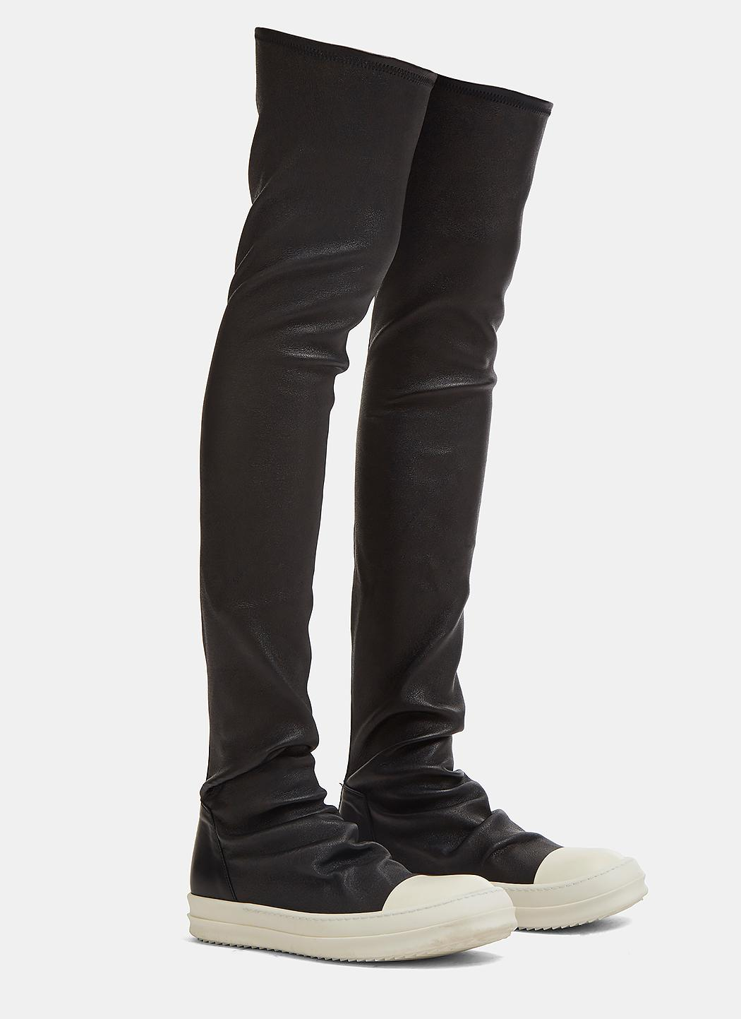 43d4f3552336 Lyst - Rick Owens Knee Boots in Black